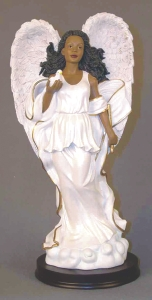 Angel in white with dove 11.5H