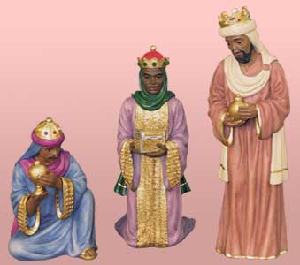 Nativity Wise Men, set of 3 6.5H