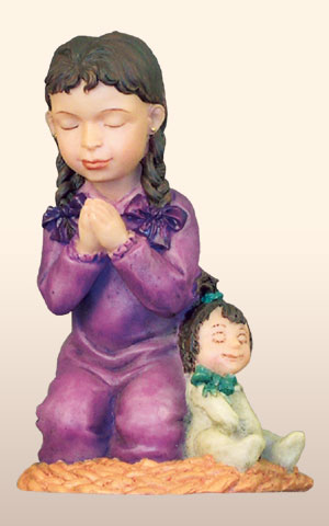 Hispanic Praying Girl, -- 4H       *