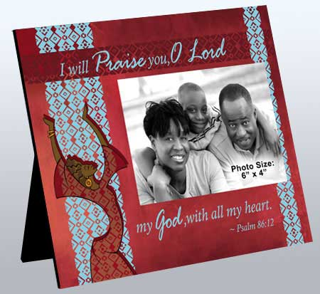 I will Praise in red 10x8
